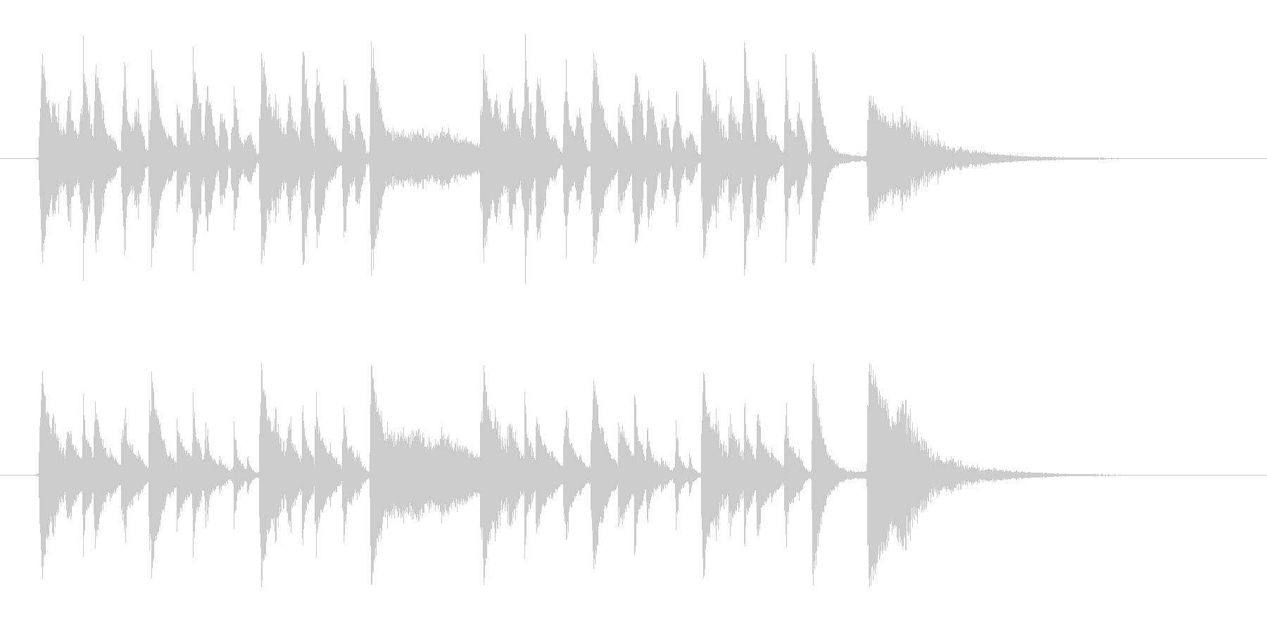 コミカルでポップな金属音ジングルの未再生の波形