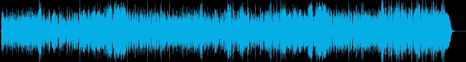 フルートなどのモダンなBGMの再生済みの波形