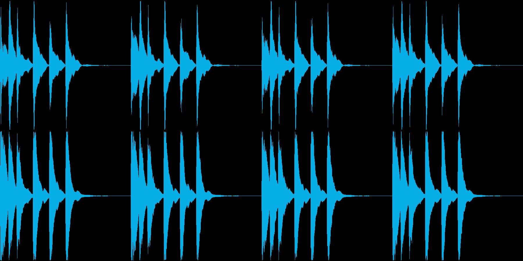 シンプル ベル 着信音 チャイム C18の再生済みの波形