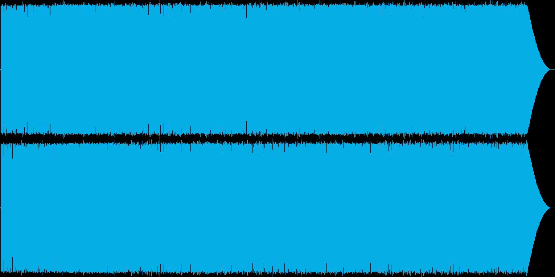 夜の海をクルージングしてるイメージの再生済みの波形