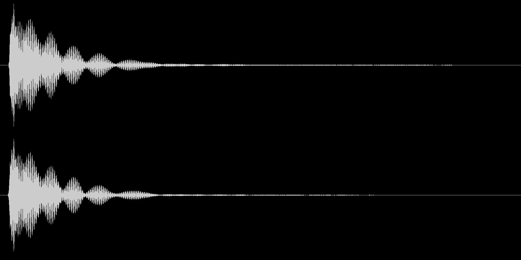 キイーン( 金属バット)の未再生の波形