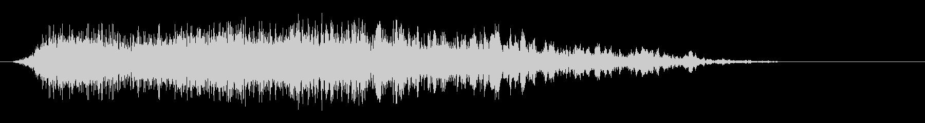 シュゥゥゥというエアー音の未再生の波形