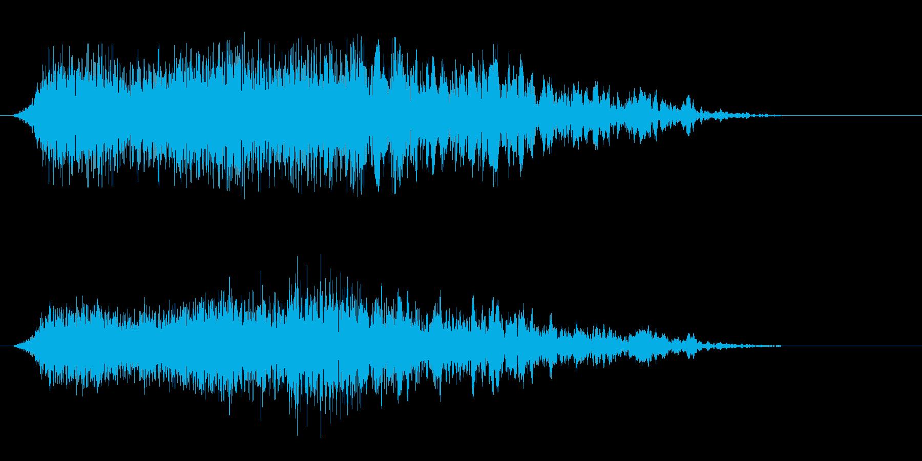 シュゥゥゥというエアー音の再生済みの波形