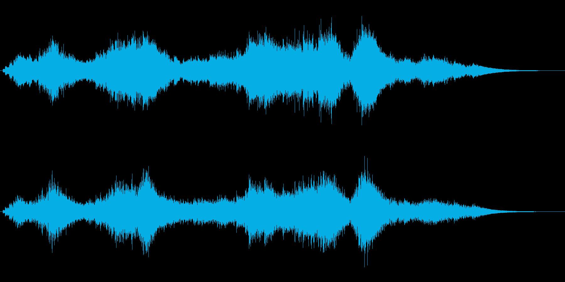 『ドロドロドロ・・・』和製ドラの連打音の再生済みの波形