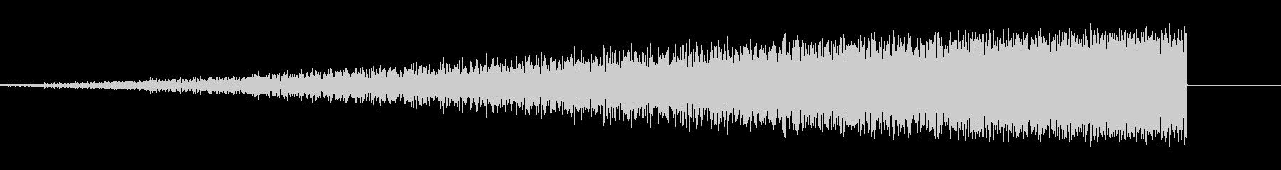 不安を煽る上昇音1の未再生の波形