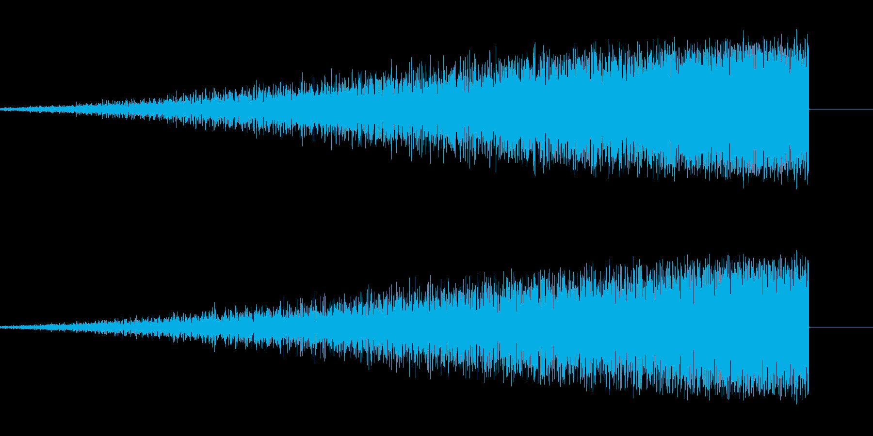 不安を煽る上昇音1の再生済みの波形