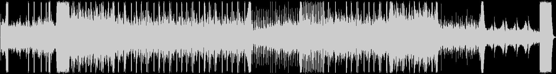 ノイズを使った緊張感のあるホラーな曲の未再生の波形
