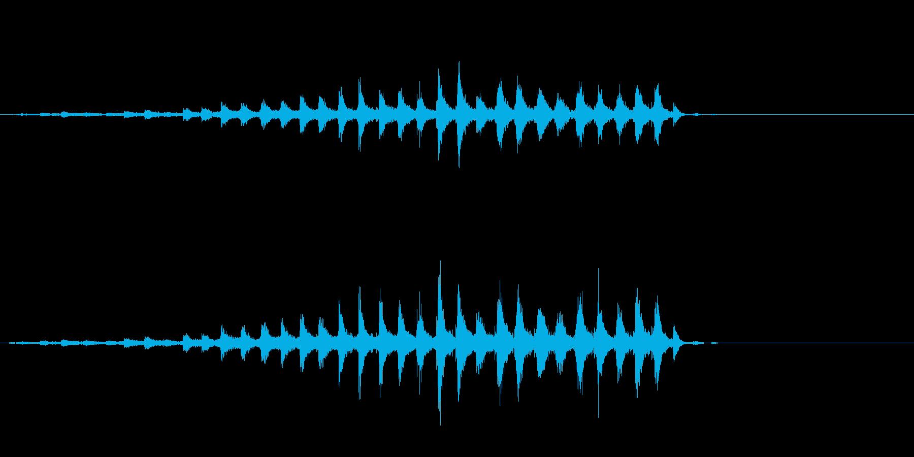 音侍「チャッパ」和製シンバルのフレーズ1の再生済みの波形