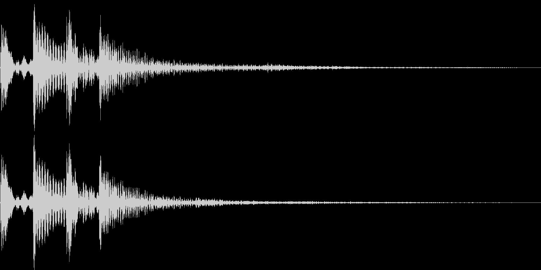 ポコポコン(決定、正解、アイテム)の未再生の波形