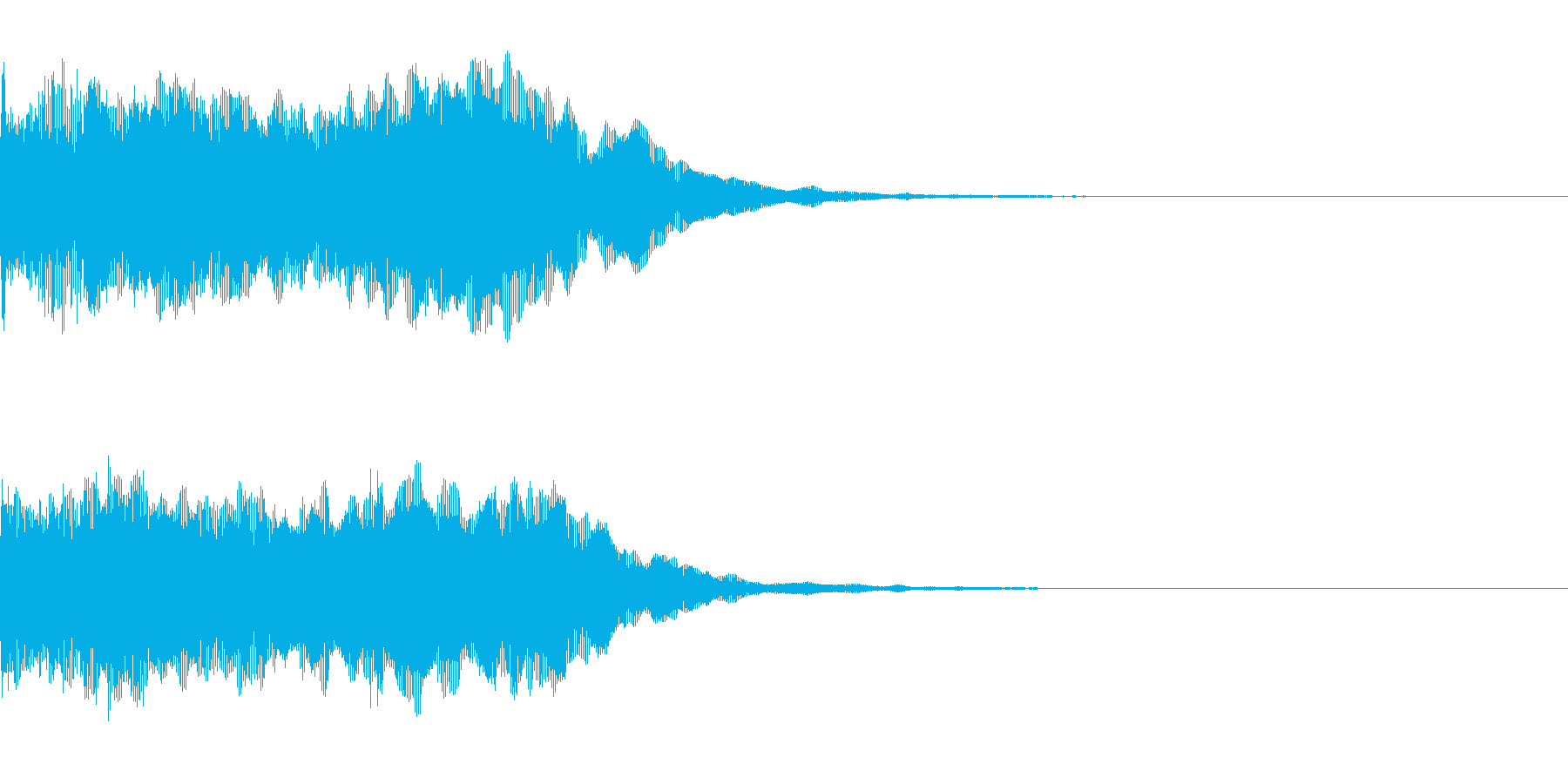 開始の合図などに合うホーンの再生済みの波形