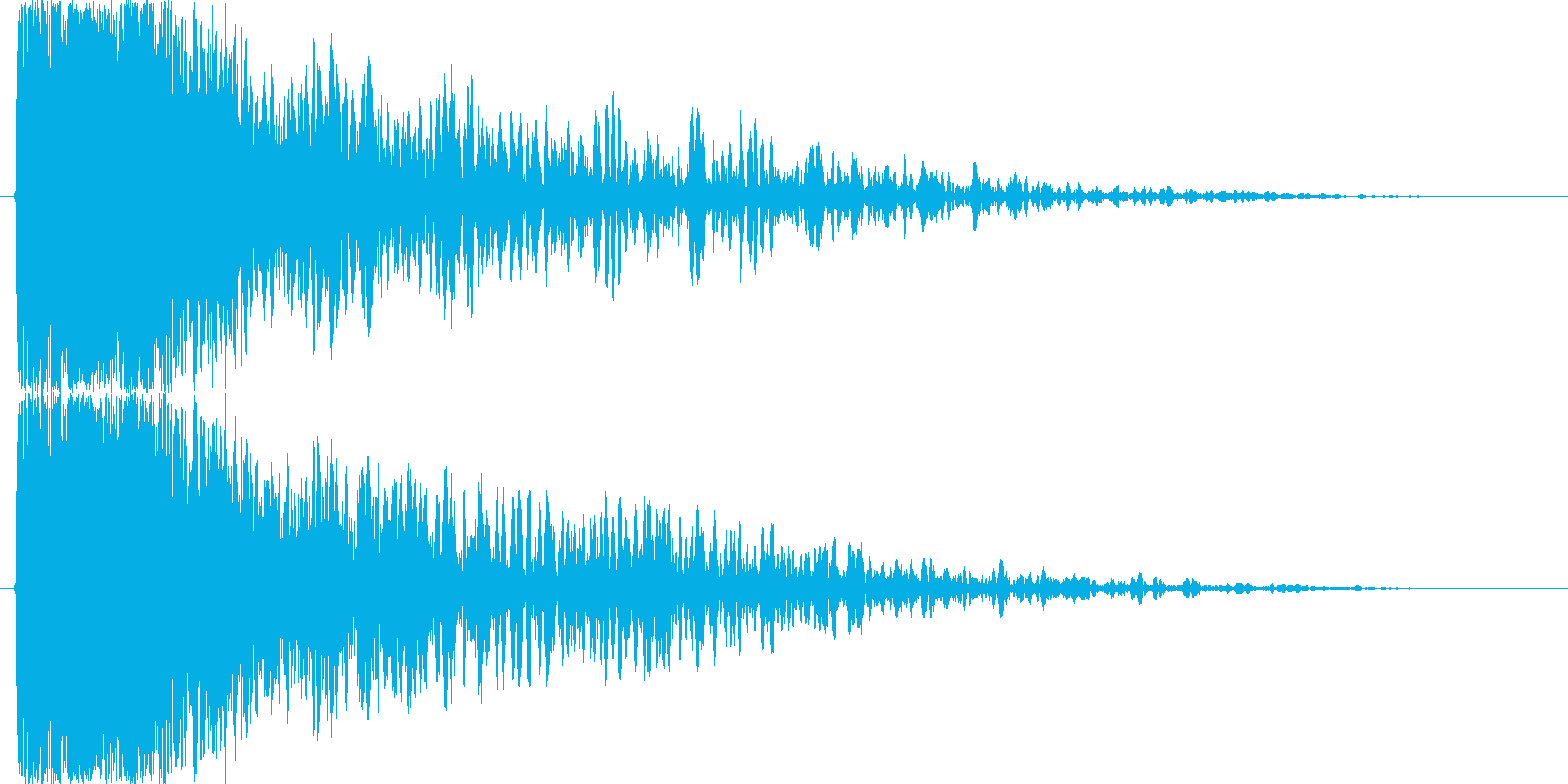 衝撃、爆発音、粉砕の再生済みの波形