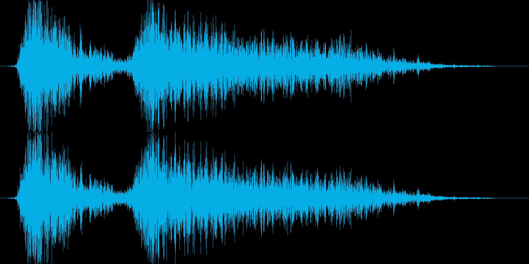 ライオン、猛獣、怪獣、鳴き声、うなり声の再生済みの波形