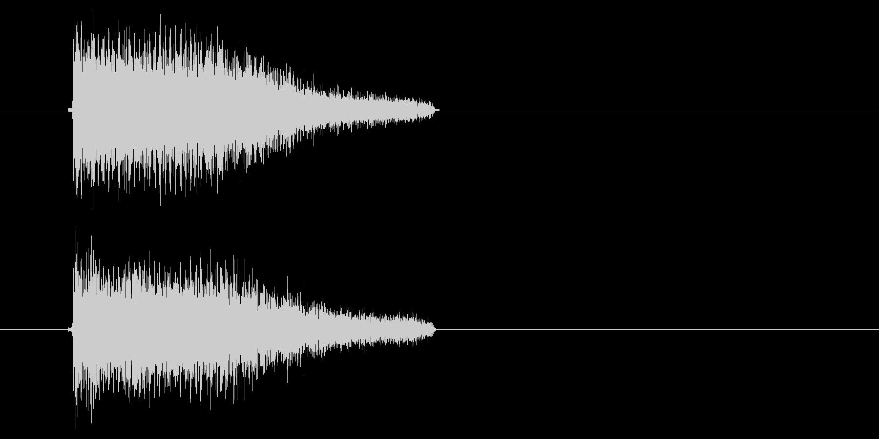 ビービュン(ゲームなどのビーム発射音)の未再生の波形