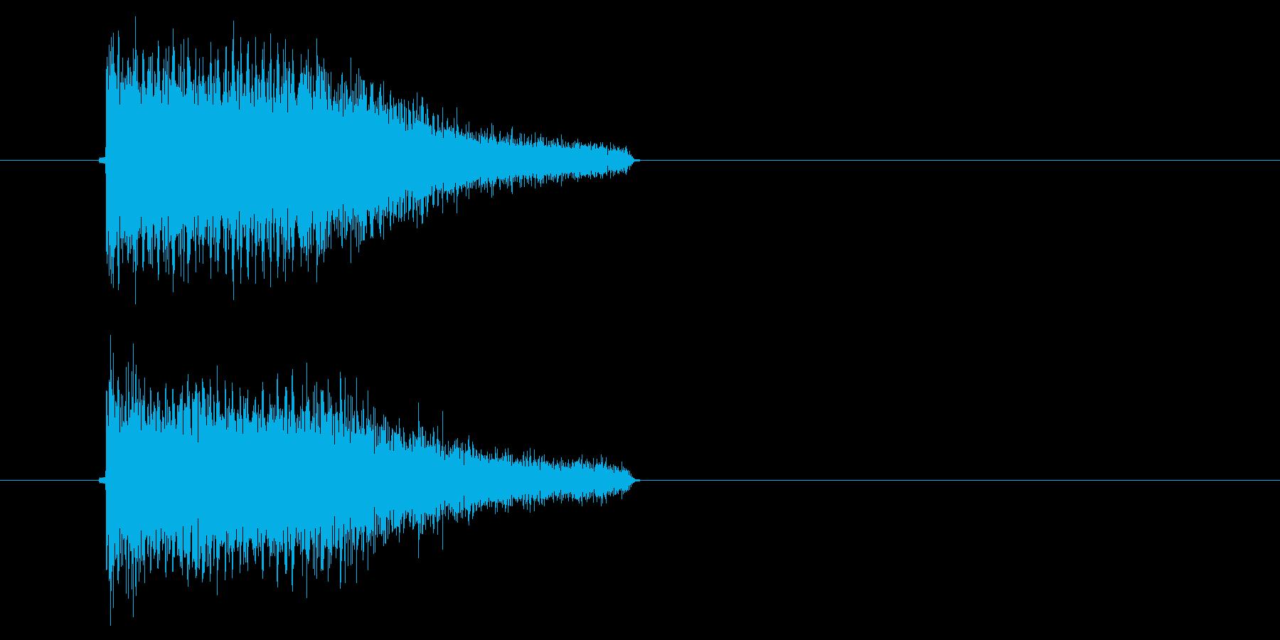 ビービュン(ゲームなどのビーム発射音)の再生済みの波形