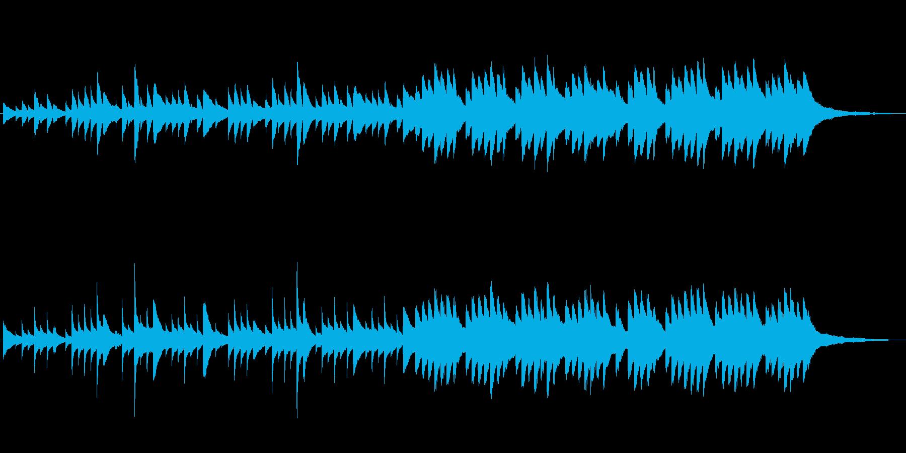 温かく優しいピアノ曲の再生済みの波形