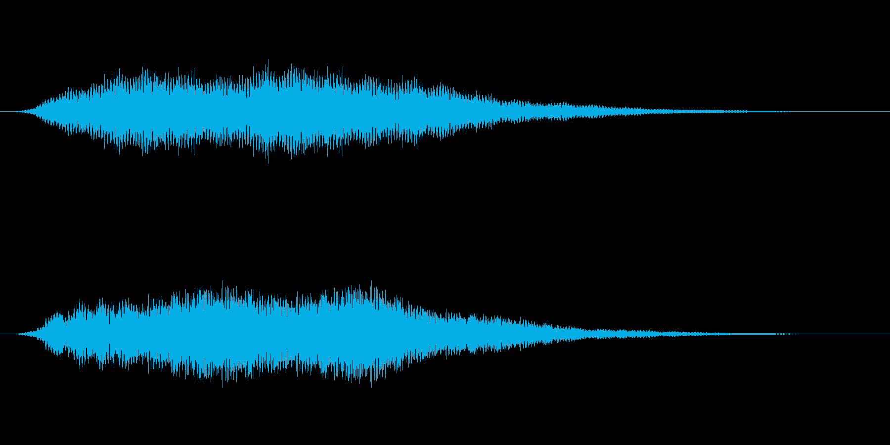 【効果音】怪談、心霊、オカルト用効果音の再生済みの波形