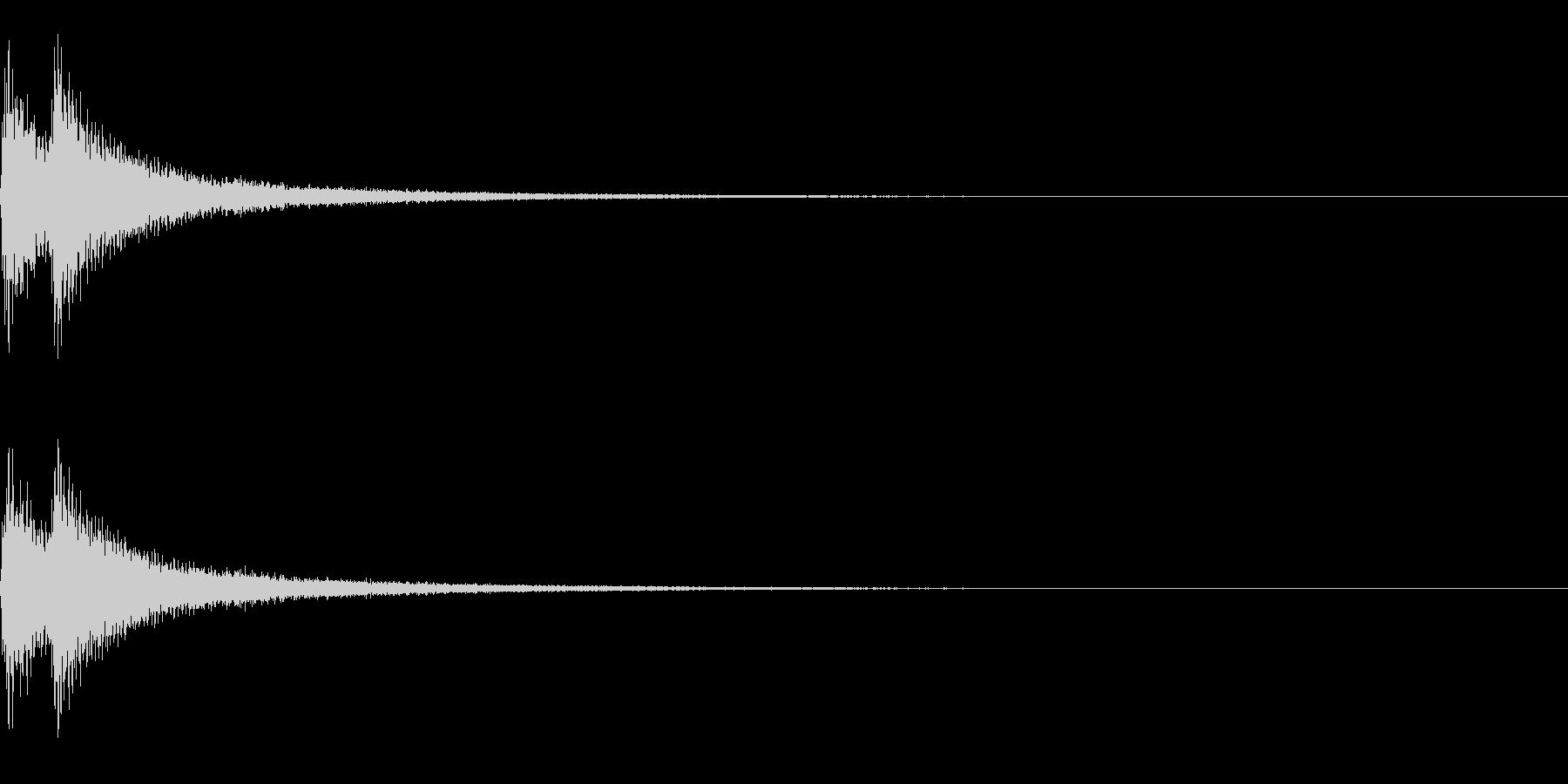 ティンパニーとシンバル☆ドドン!3の未再生の波形