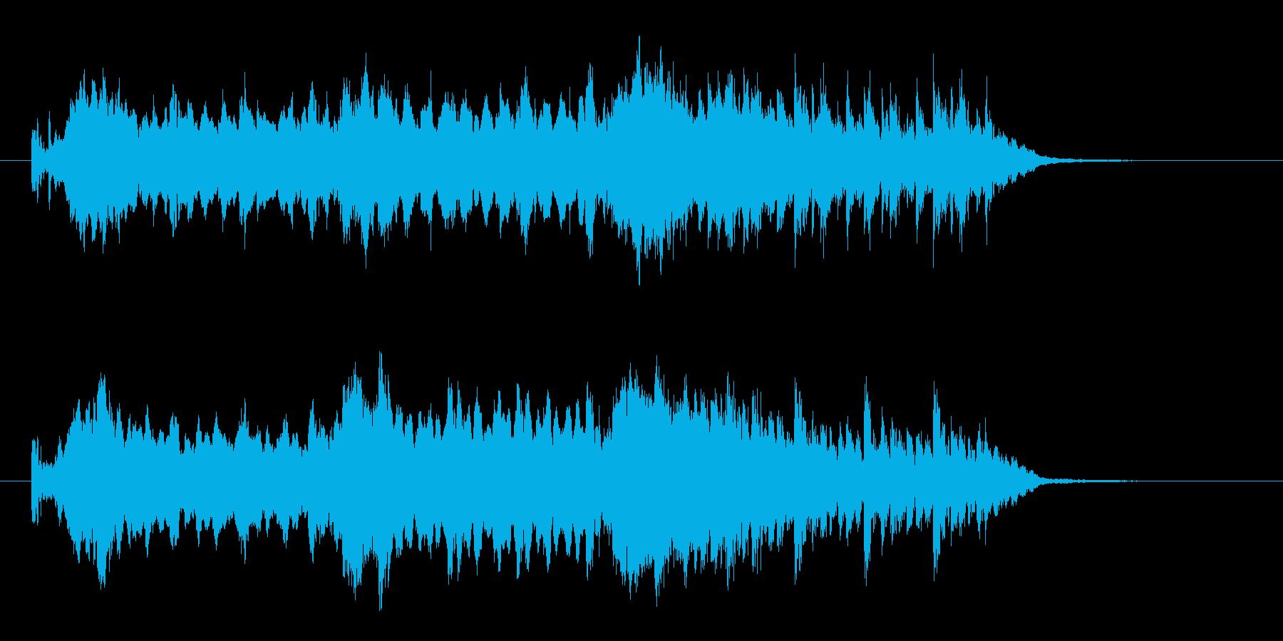 悠長で緩やかなテクノポップジングルの再生済みの波形
