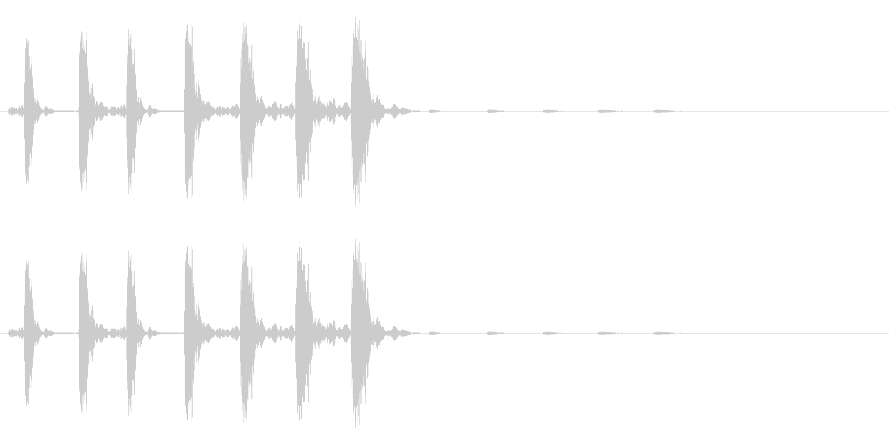 キャンセル、消去のイメージ(キュルルル)の未再生の波形