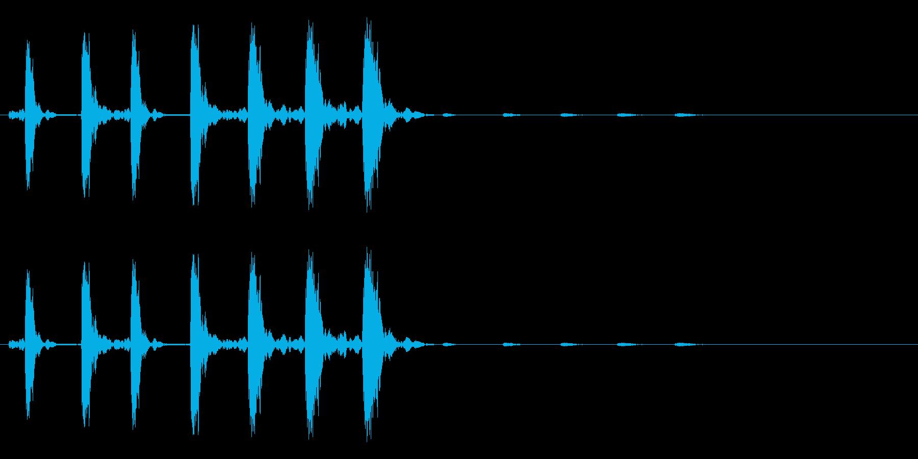 キャンセル、消去のイメージ(キュルルル)の再生済みの波形