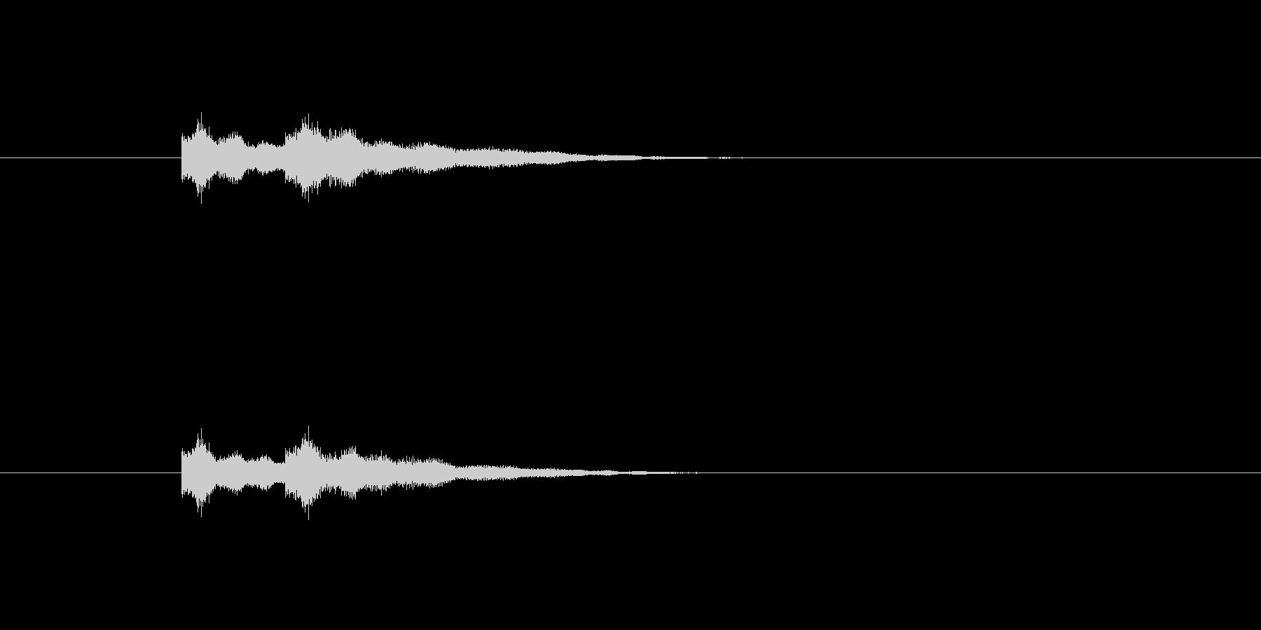 チャイム音の未再生の波形