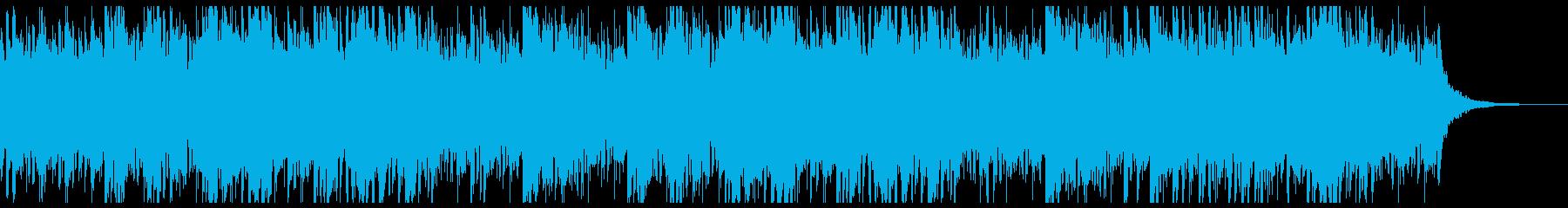 雄大な空をかける飛空艇のBGM・感動系の再生済みの波形
