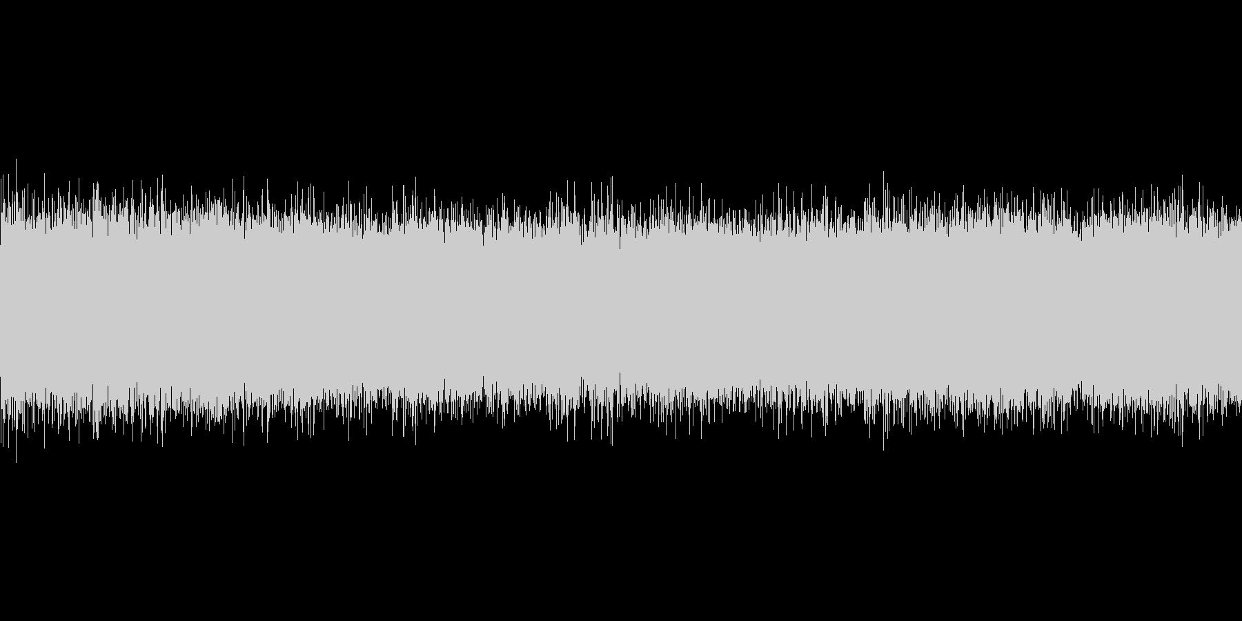夏の川(中流)蝉の鳴き声の未再生の波形