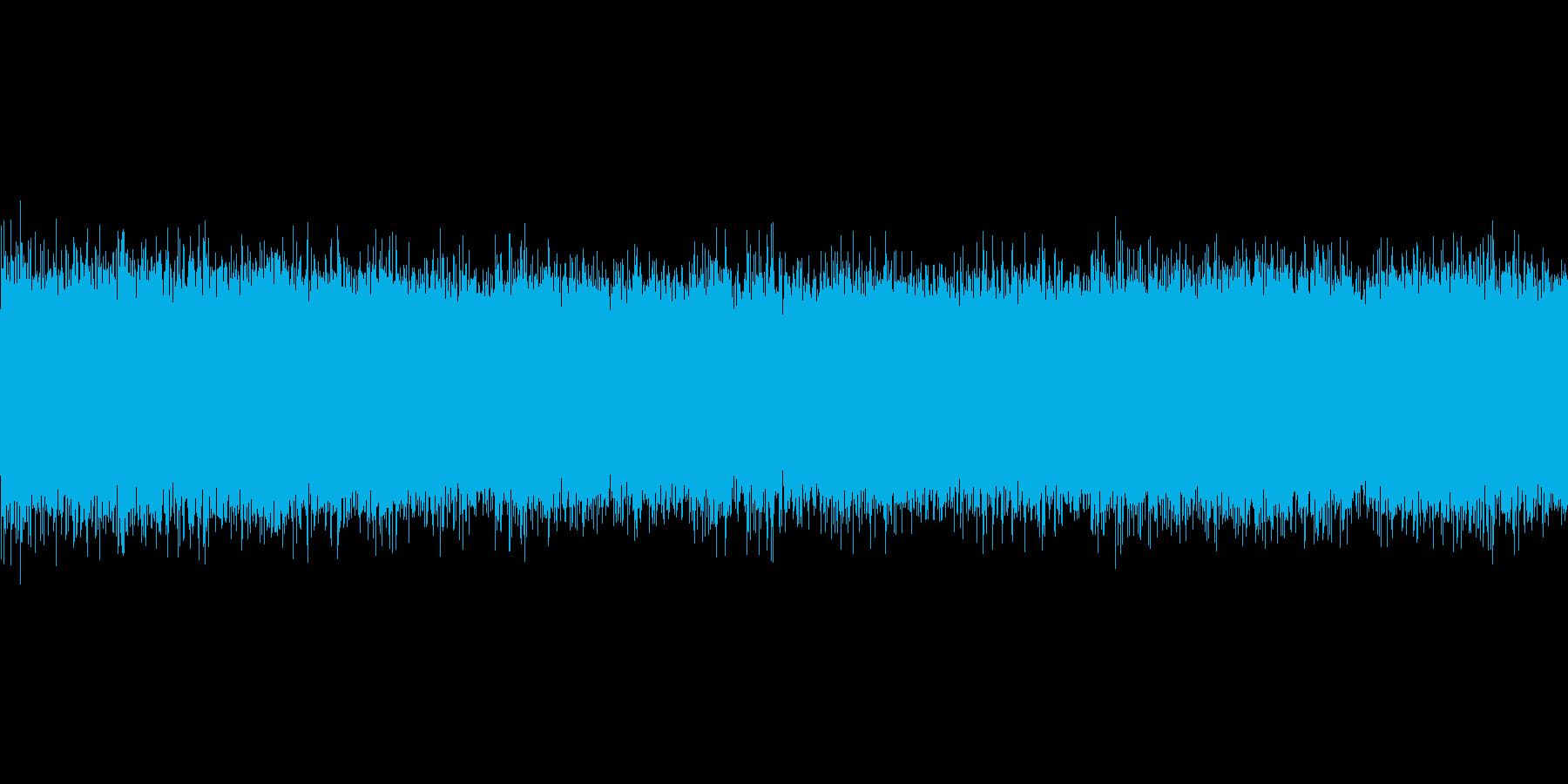 夏の川(中流)蝉の鳴き声の再生済みの波形