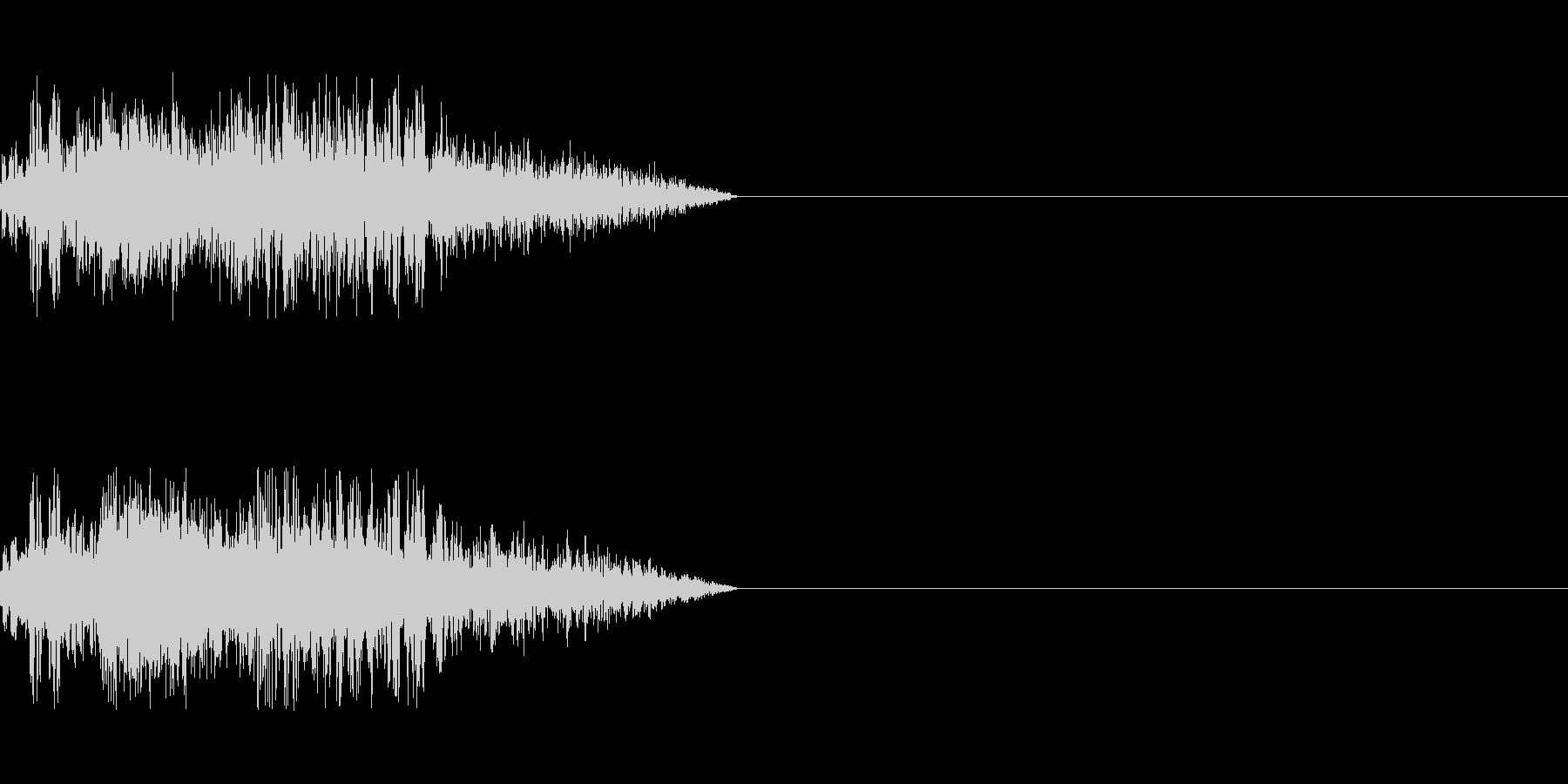 ビーム ワンショット5の未再生の波形