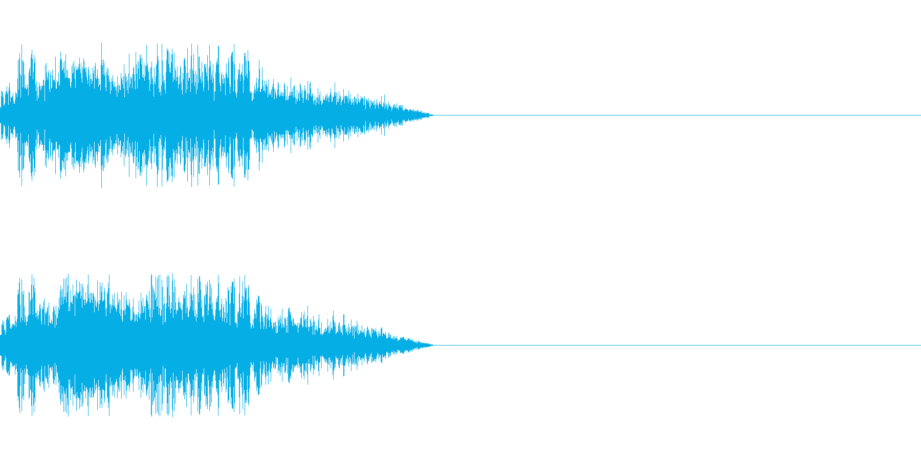 ビーム ワンショット5の再生済みの波形