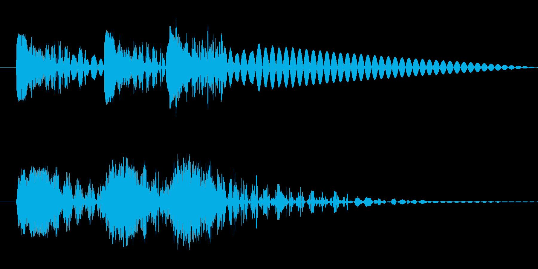ドドドン 射撃音 ゲームなどの再生済みの波形