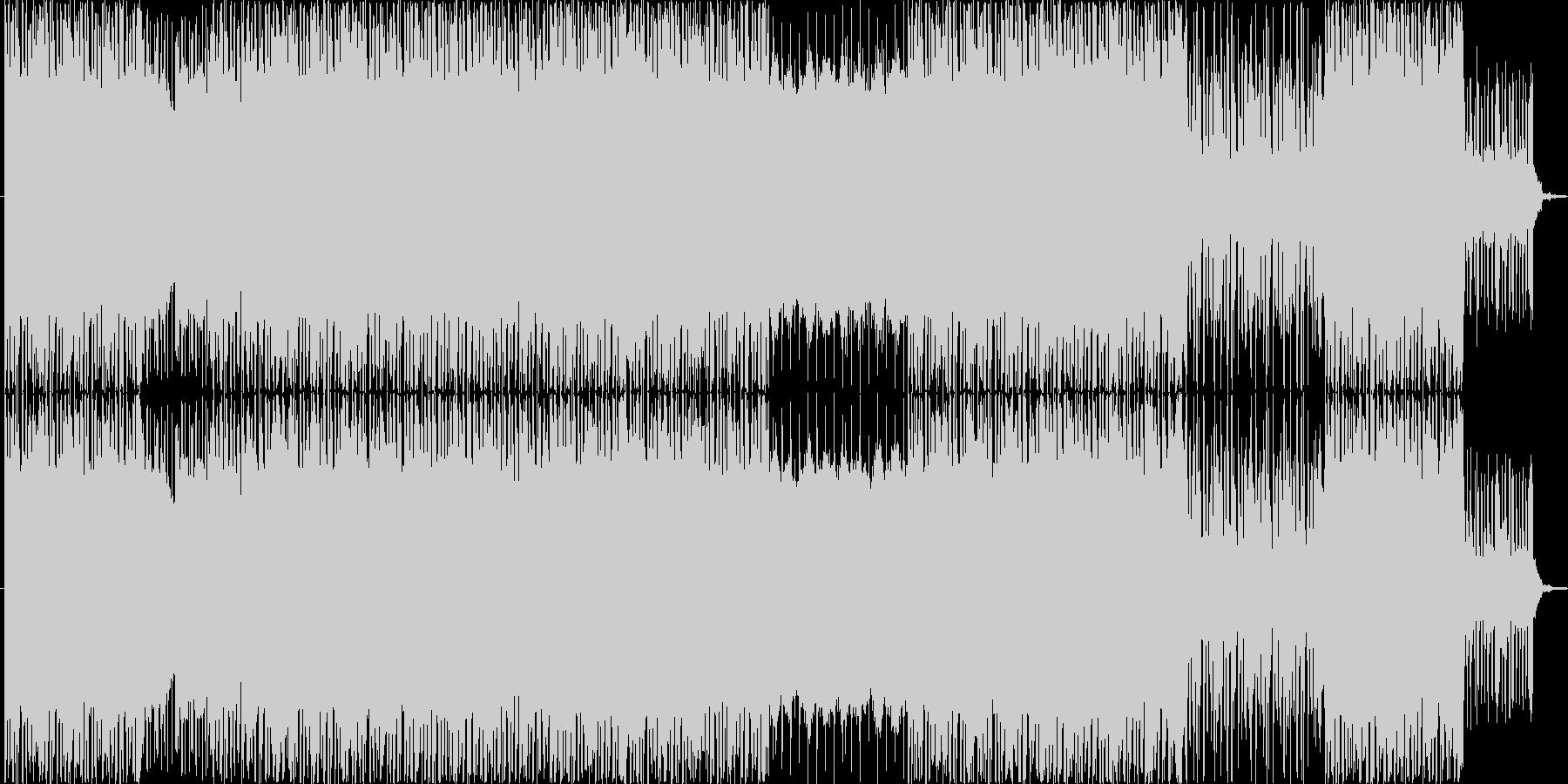 近未来なエレクトロニカ風ミュージックで…の未再生の波形