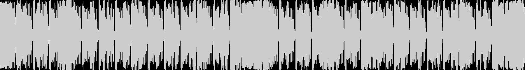 四分打ちのシンプルなループBGMの未再生の波形