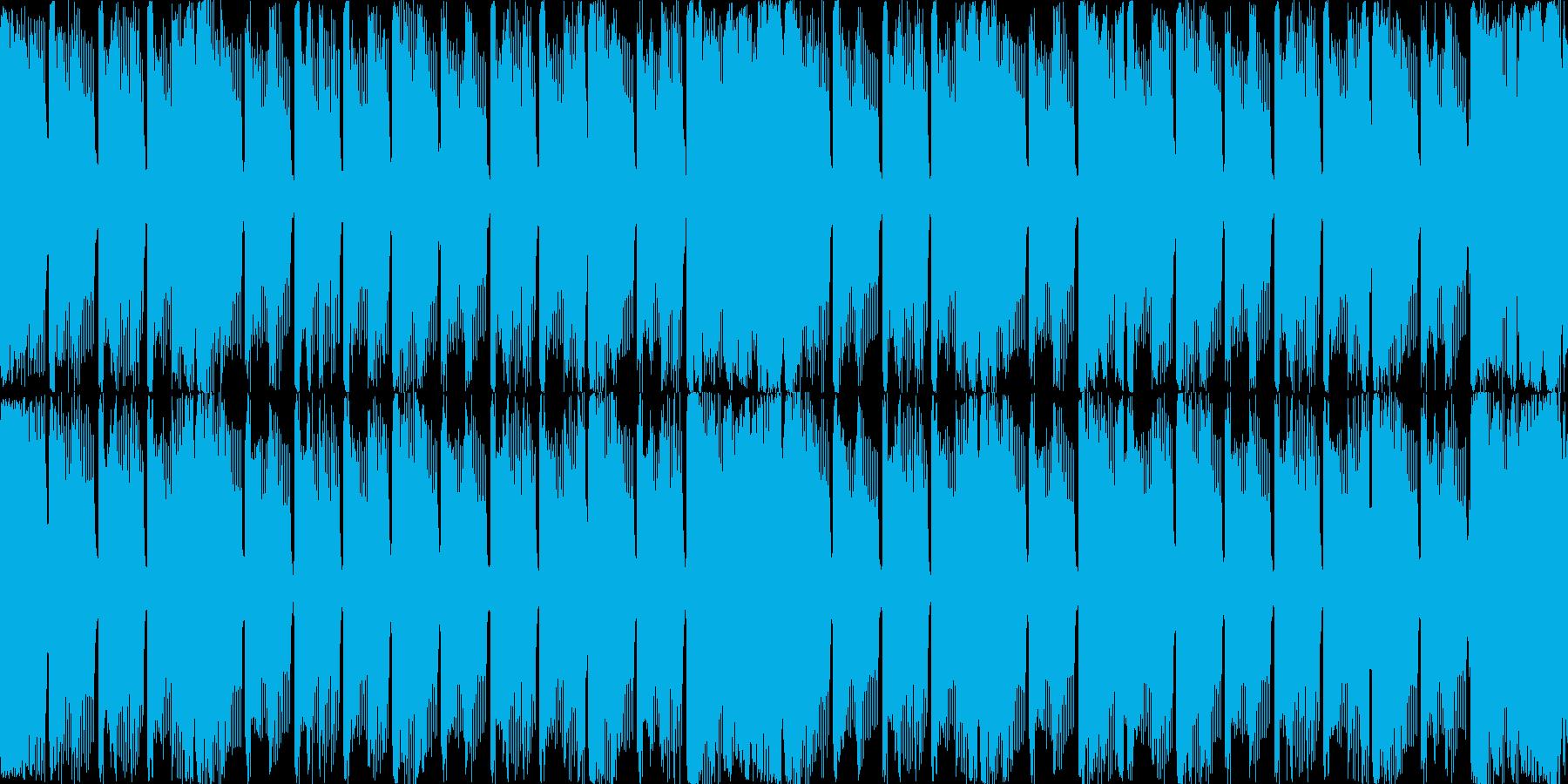 四分打ちのシンプルなループBGMの再生済みの波形