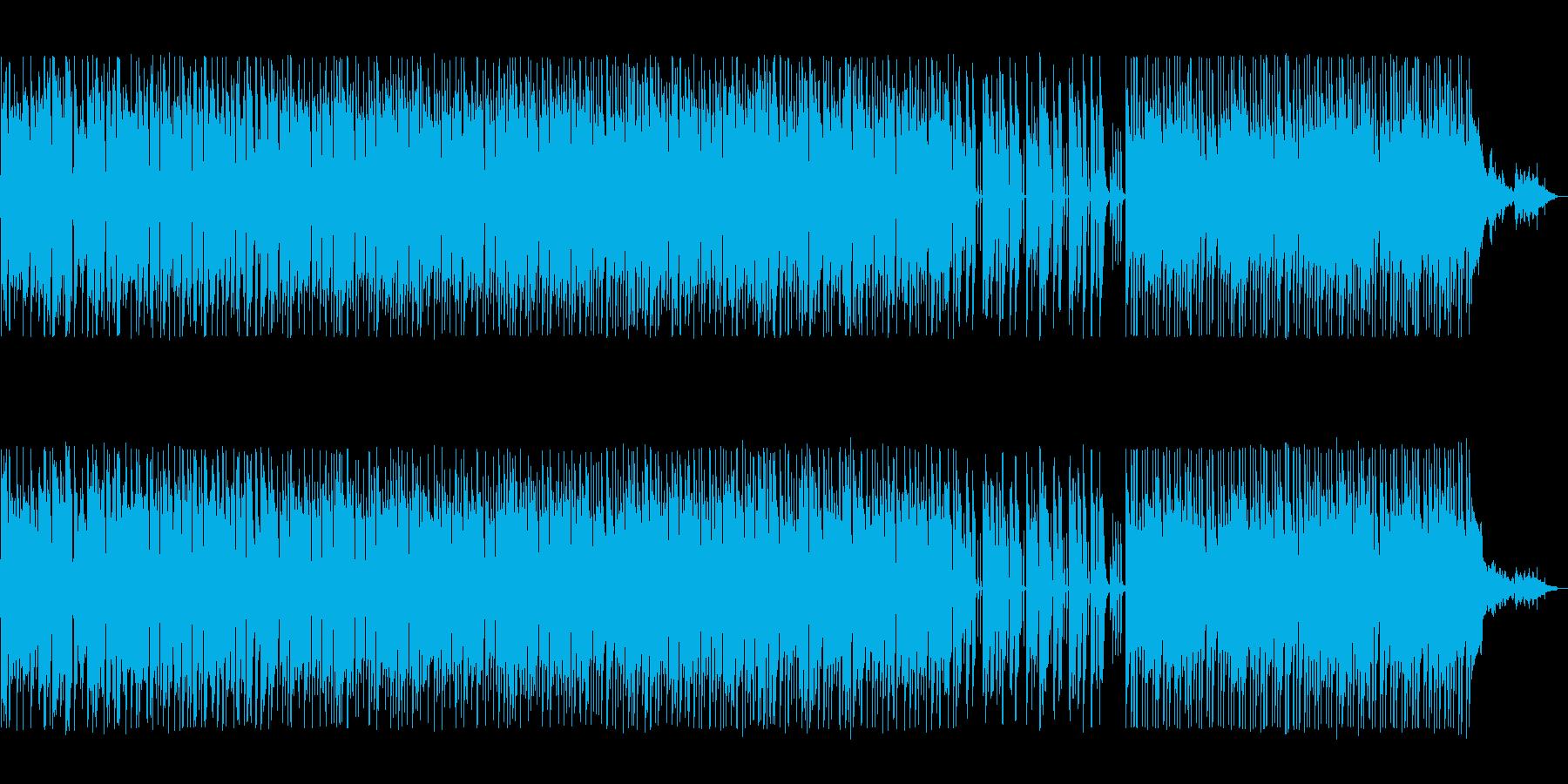 ウキウキする軽快なシンセボサノバの再生済みの波形