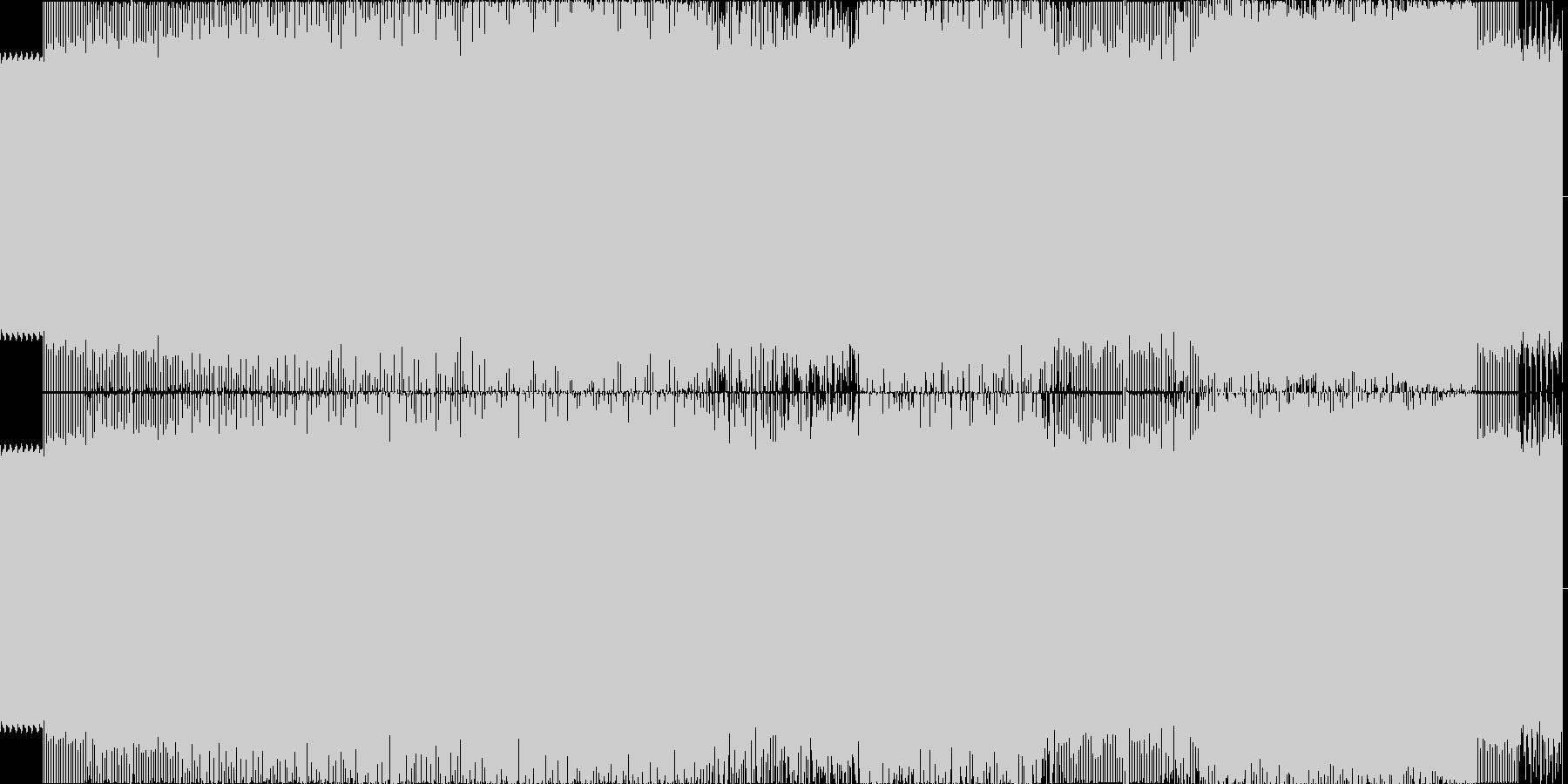 140BPMの疾走感のある長めのテクノの未再生の波形