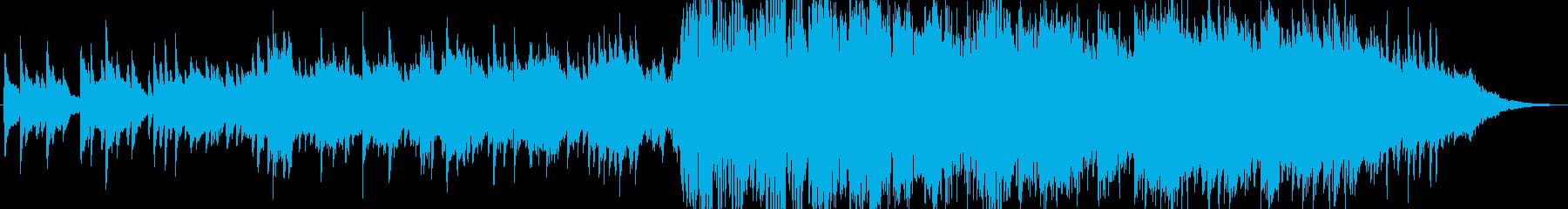 ピアノのバラード。穏やかな雰囲気の再生済みの波形