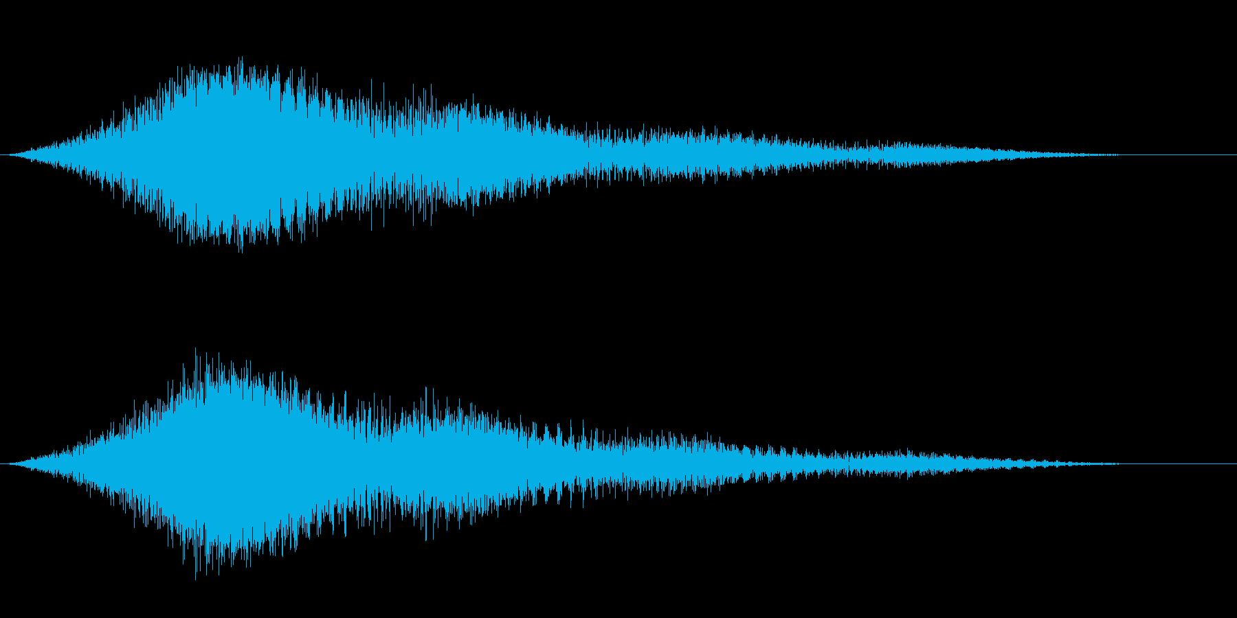 ジュワーンとロボット系サイバーノイズの再生済みの波形