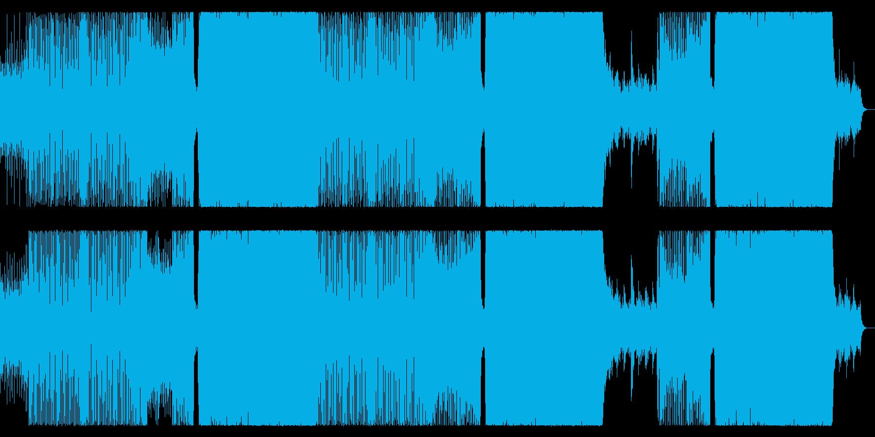 テンション上がるクールなEDMの再生済みの波形