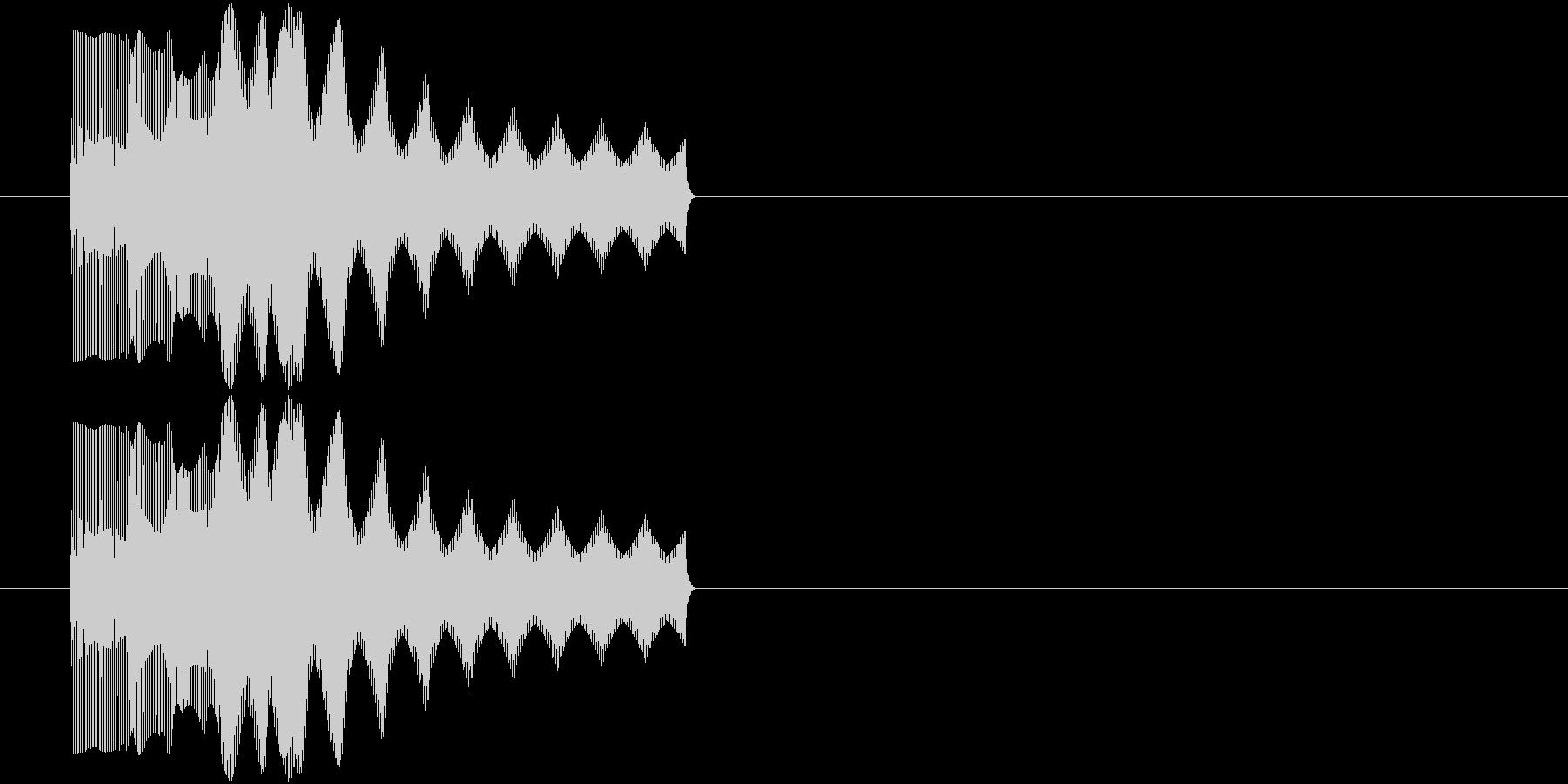 ビヨーン(潰れた音、撃沈、不正解)の未再生の波形