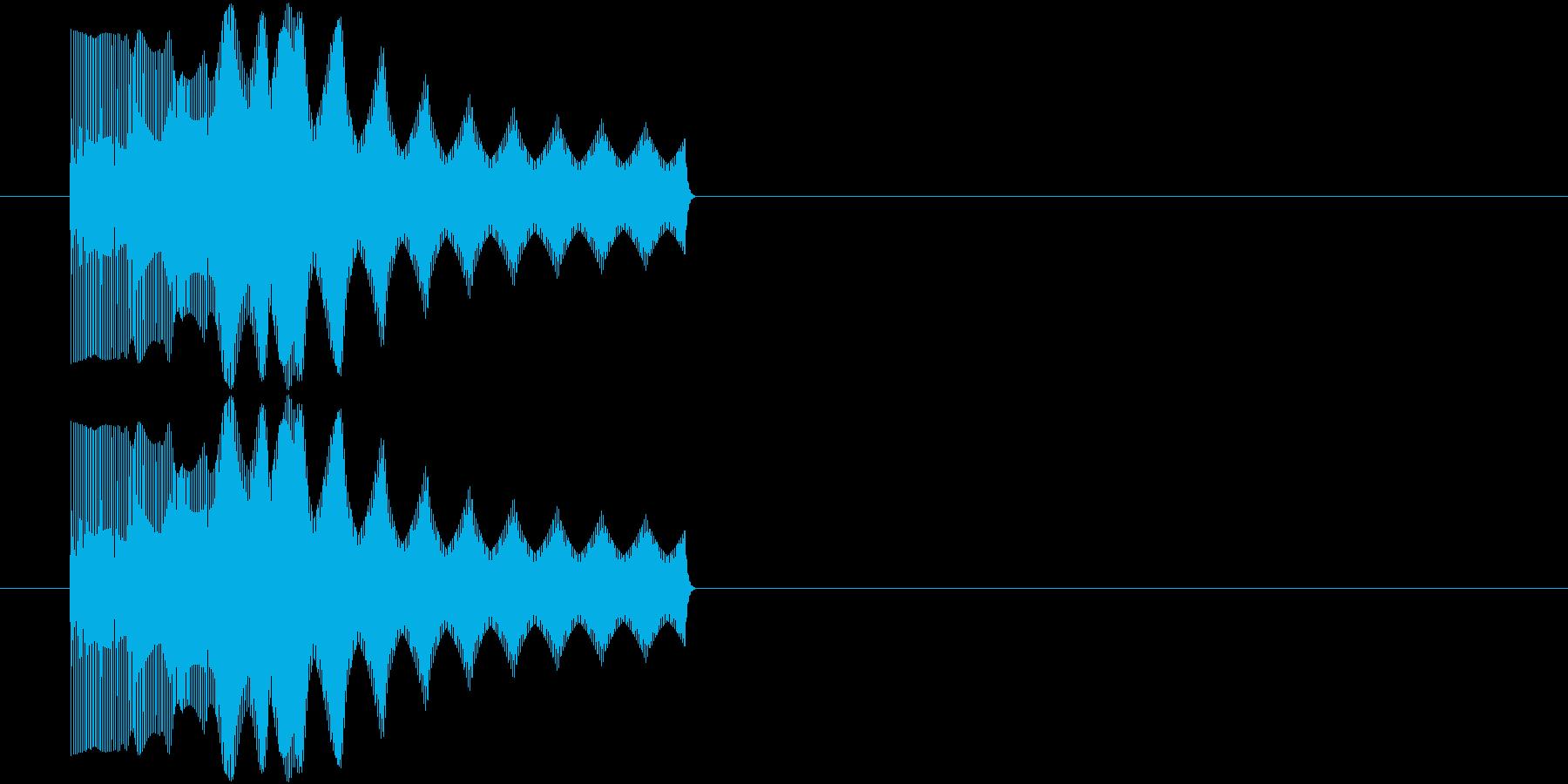 ビヨーン(潰れた音、撃沈、不正解)の再生済みの波形