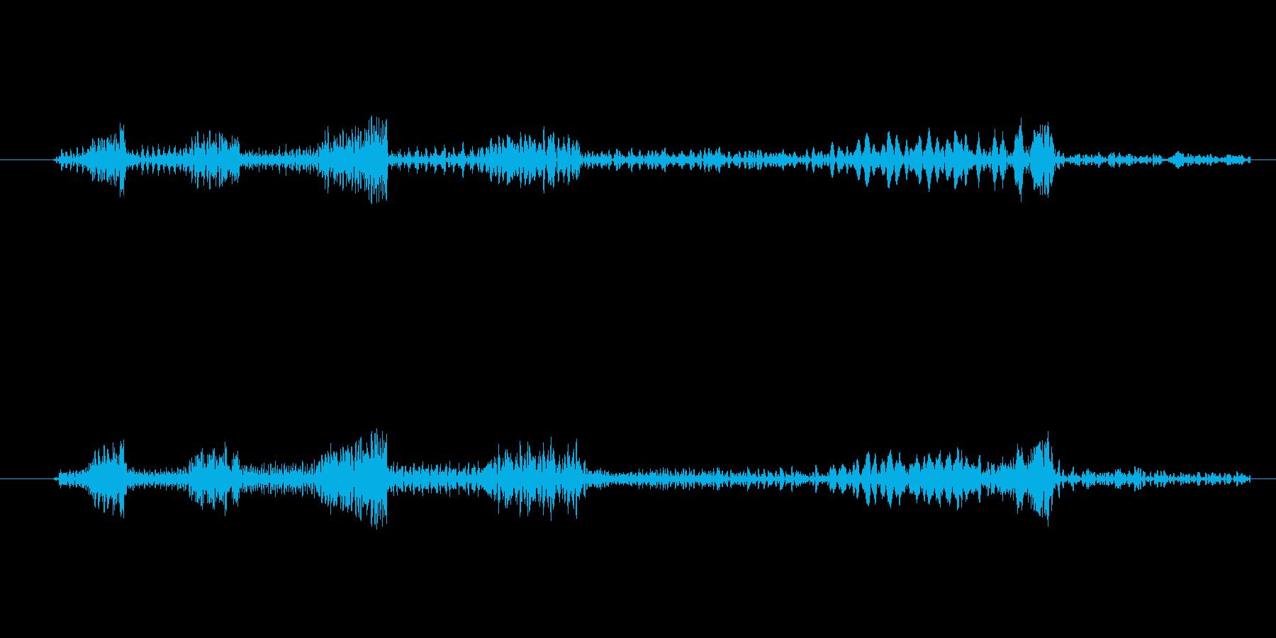 レコード・CDのスクラッチ音(ブレーキ)の再生済みの波形
