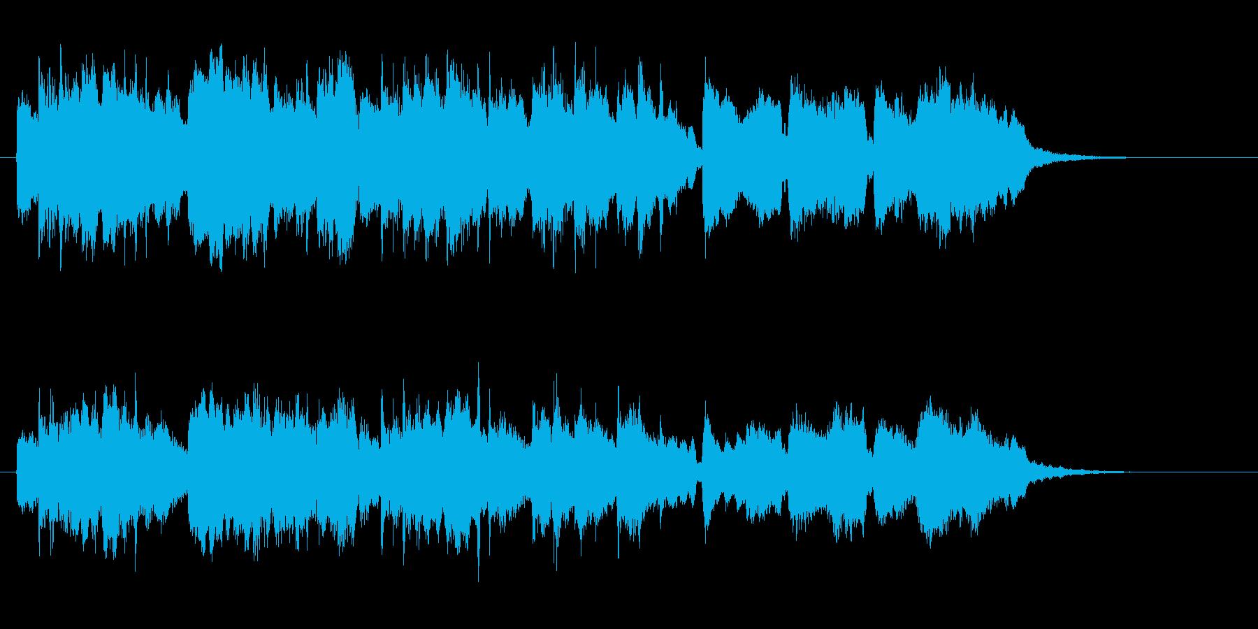 メルヘンで優しいシンセオルガンサウンドの再生済みの波形