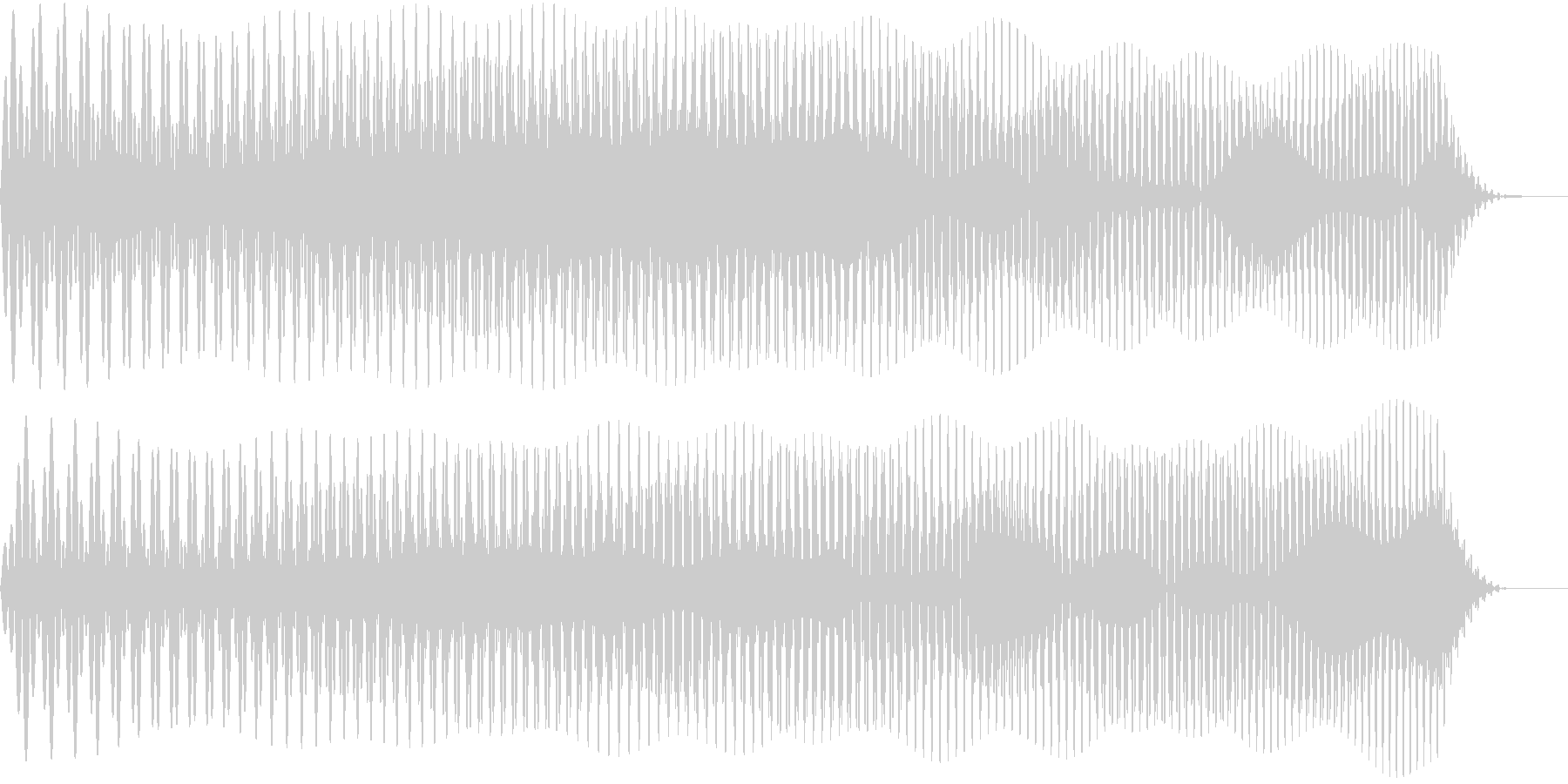 ワープしそうな音02の未再生の波形