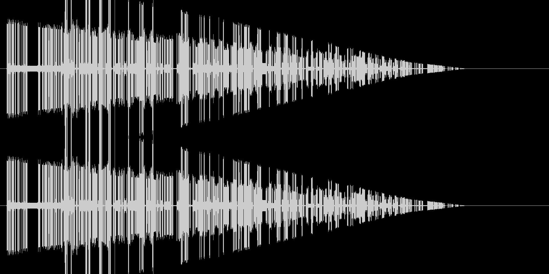 レトロゲーム風爆発音6の未再生の波形
