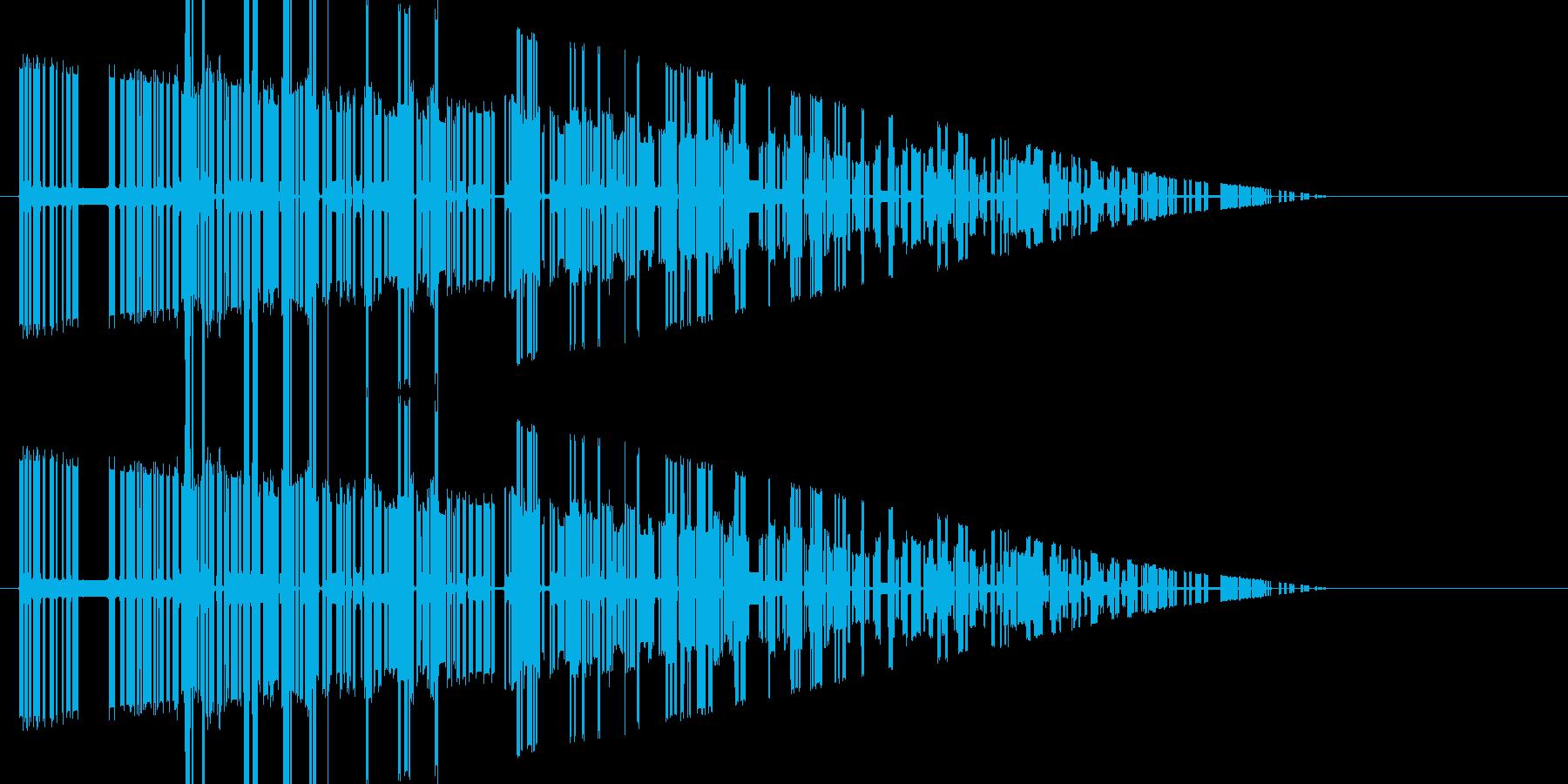 レトロゲーム風爆発音6の再生済みの波形