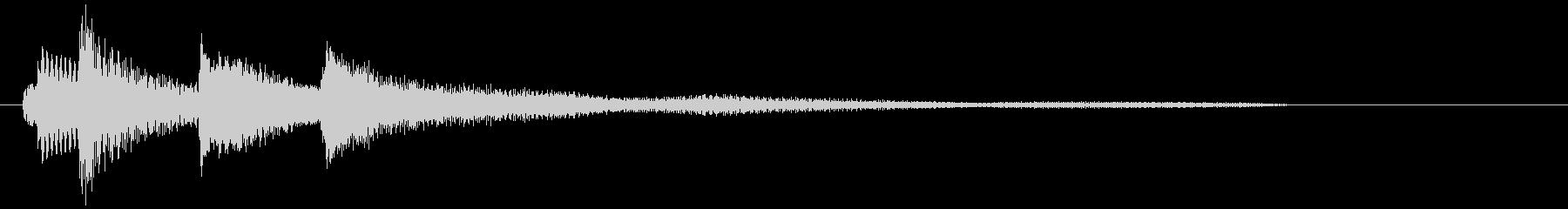 ピアノだけのシンプルで綺麗なジングル2の未再生の波形