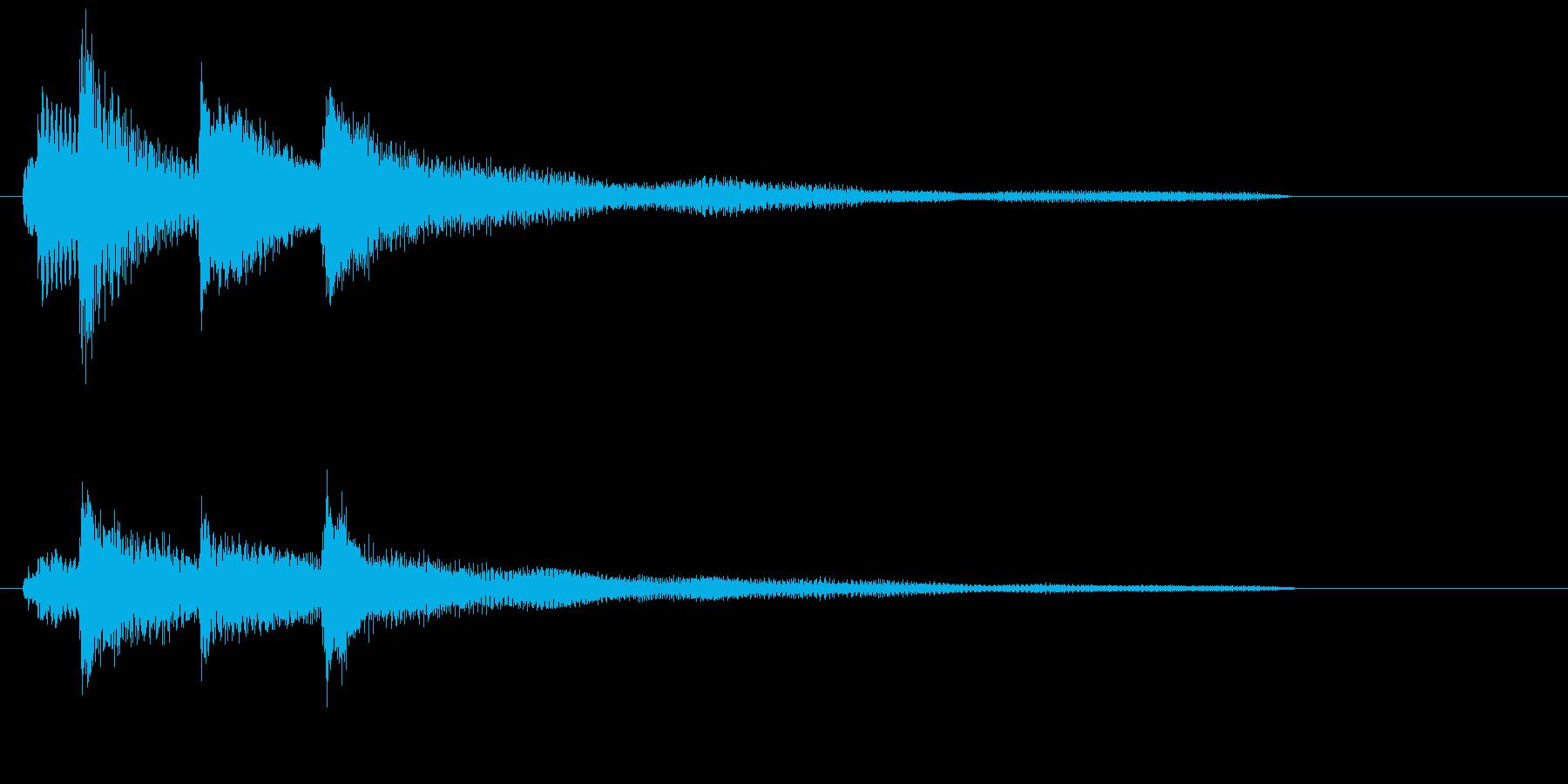 ピアノだけのシンプルで綺麗なジングル2の再生済みの波形