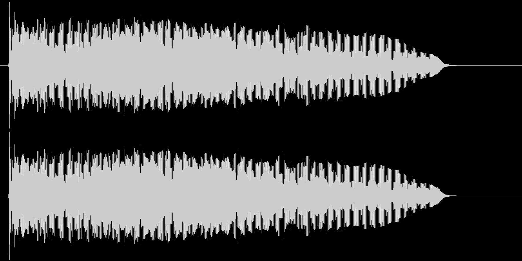 ワープをする音の未再生の波形