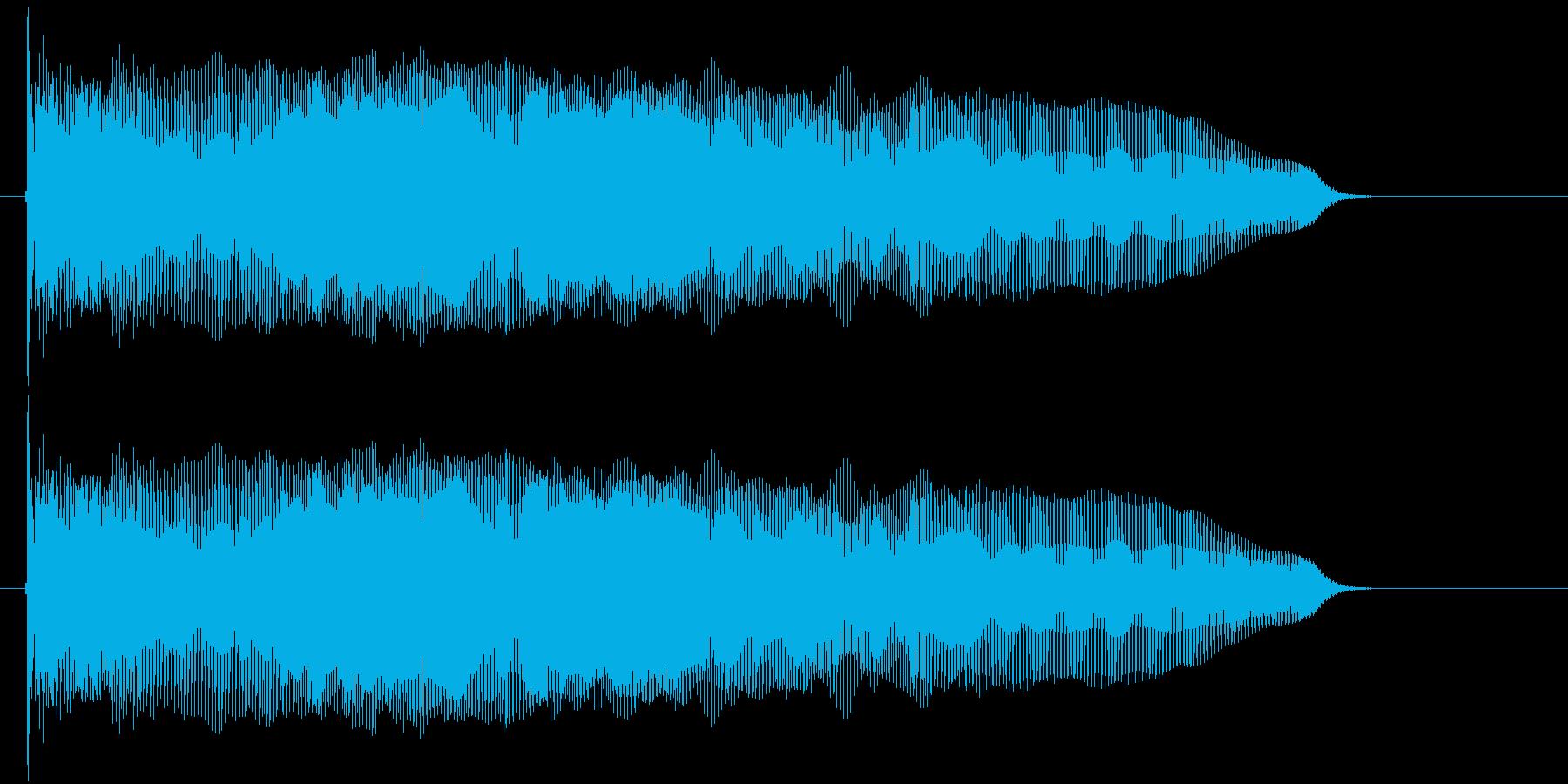 ワープをする音の再生済みの波形
